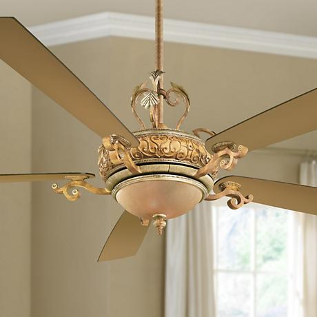 "68"" Napoli II Tuscan Patina Finish Ceiling Fan"