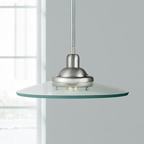 "Kichler Galaxie 14"" Wide Brushed Nickel Mini Pendant"
