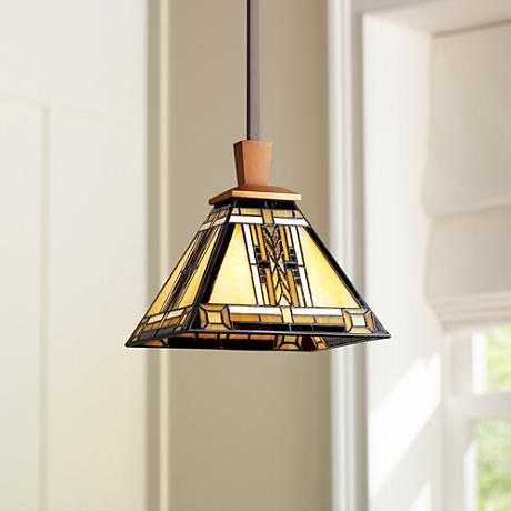 Walnut Mission Collection Pendant Chandelier