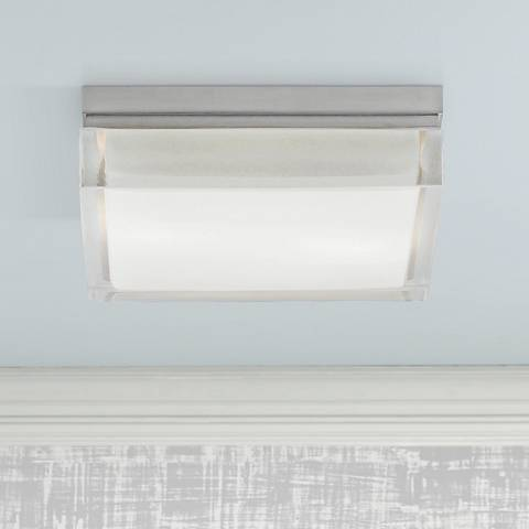 "Tech Lighting Boxie 9""W Square Frost Glass Ceiling Light"