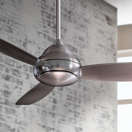 "52"" Minka Aire Concept I Brushed Nickel Ceiling Fan"