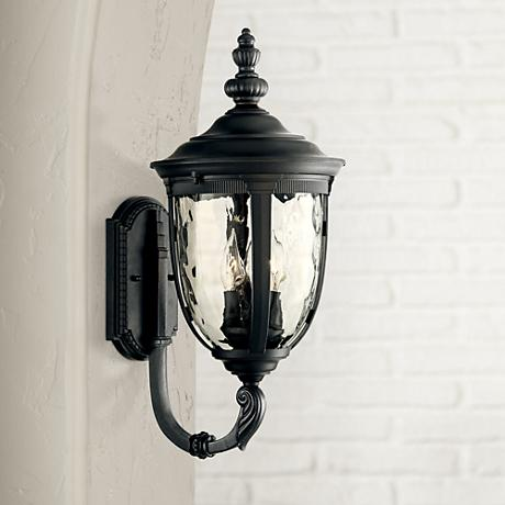 "Bellagio™ Collection 21"" High Black Outdoor Wall Light"