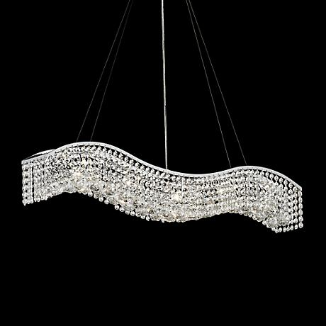 "James R. Moder Crystal Wave 36"" Contemporary Chandelier"