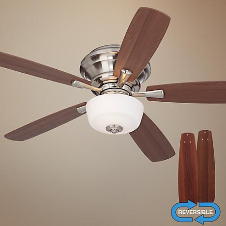 "52"" Casa San Marin Frosted Glass Brushed Nickel Ceiling Fan"