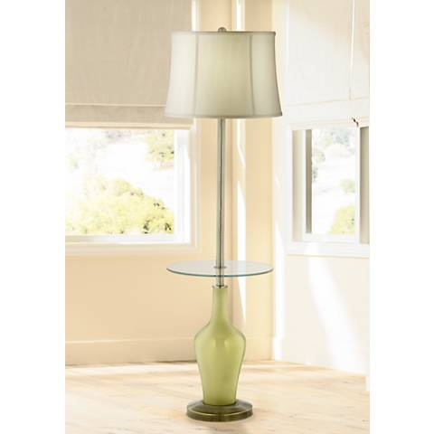 Linden Green Anya Tray Table Floor Lamp