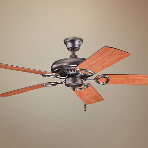 "52"" Kichler Sutter Place Oil Brushed Bronze Ceiling Fan"