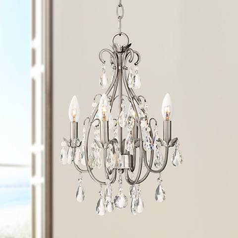 "Kathy Ireland Hollis 15"" Wide Crystal Swag Chandelier"