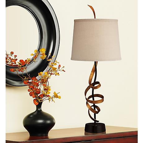 Tendril Gold Metal Ribbon Table Lamp