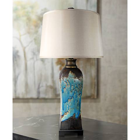 Mazara Rust - Azul Ceramic Table Lamp