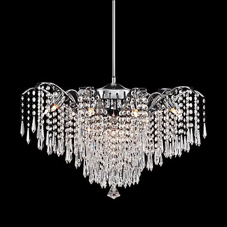 "Rebecca 24 1/2"" Wide Clear Crystal Pendant Light"