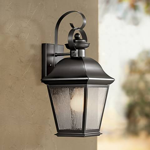 "Kichler Mt. Vernon 17"" High Black Outdoor Wall Light"