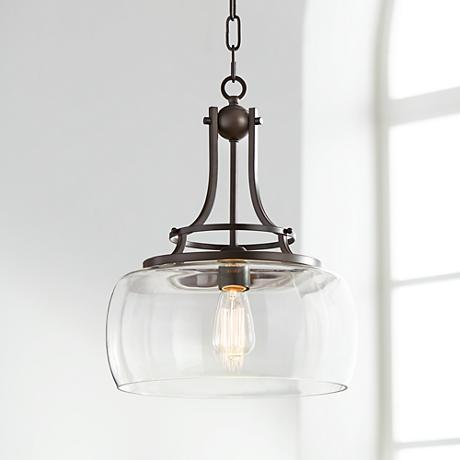 Charleston 13 1 2 Wide Bronze Pendant