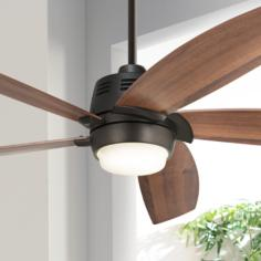 "56"" Casa Ecanto™ Oil-Rubbed Bronze LED Ceiling Fan"