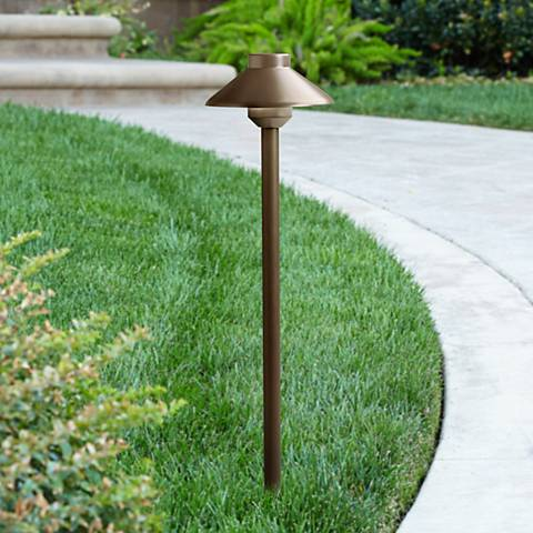 "Kichler Landscape 15 1/2"" High Brass LED Path Light"