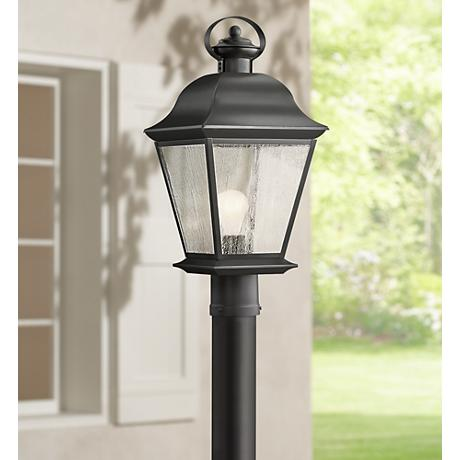 "Kichler Mt. Vernon 20 3/4"" High Black Outdoor Post Light"