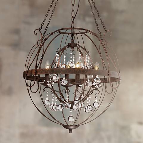 "Alexandria 26"" Wide Bronze Pendant Light"