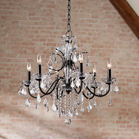 Beverly 26 wide crystal chandelier 4f449 lamps plus for Crystal chandeliers for bedrooms