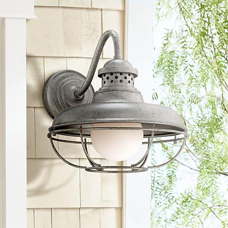 "Franklin Park Metal Cage 16"" High Steel Outdoor Wall Light"