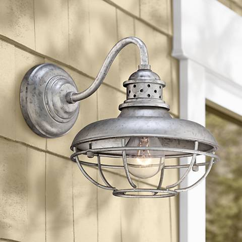 "Franklin Park Metal 13"" High Steel Outdoor Wall Light"