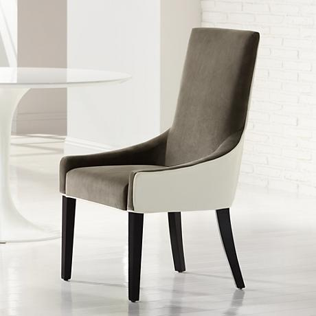 Vincent Portsmouth Grey and Ivory Dining Chair