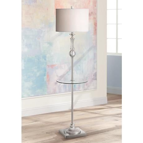 Poise Oil Rubbed Bronze Tri Leg Floor Lamp With Tray Table