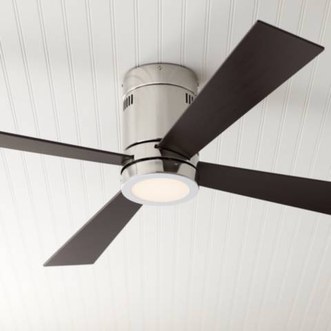 52 Quot Casa Vieja Revue Brushed Nickel Led Ceiling Fan