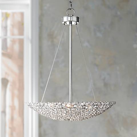 "Possini Euro Geneva 20"" Wide Contemporary Crystal Chandelier"