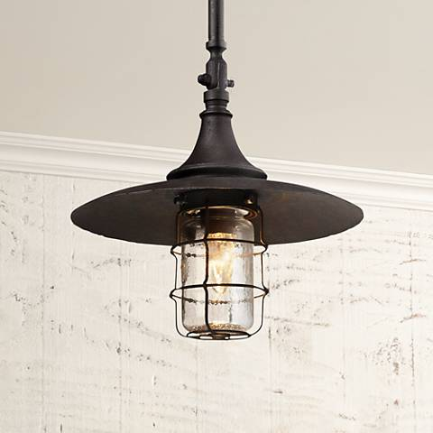 "Allegheny 13"" Wide Centennial Rust Outdoor Hanging Light"