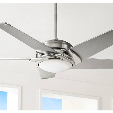 "54"" Casablanca Stealth Brushed Nickel LED Ceiling Fan"