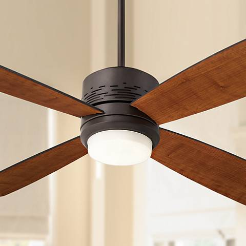 "50"" Emerson Highrise Bronze Ceiling Fan with LED Downlight"