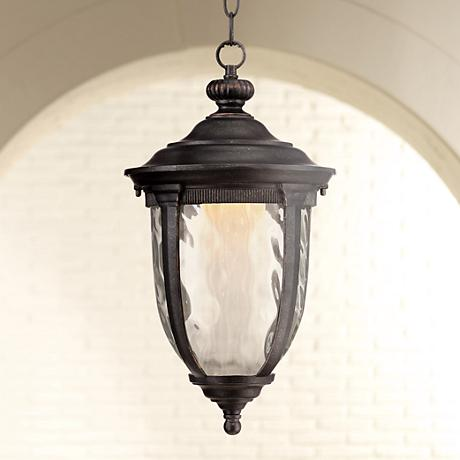 "Bellagio™ 18"" High LED Veranda Bronze Outdoor Hanging Light"