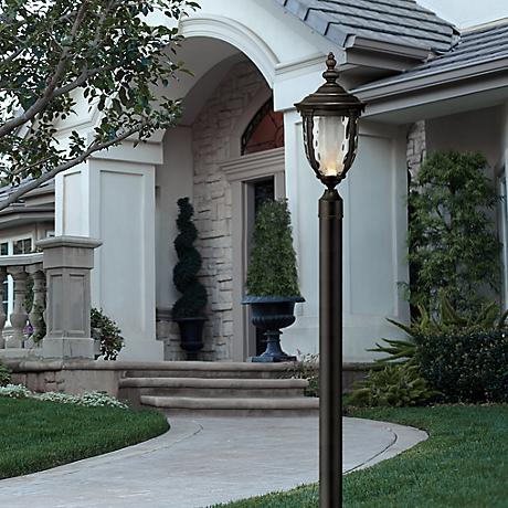 "Bellagio™ 21"" High LED Veranda Bronze Outdoor Post Light"