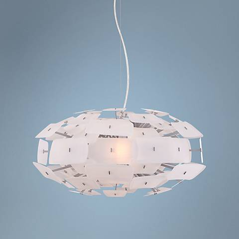 "Possini Euro Unity 22"" Wide White Pendant Light"