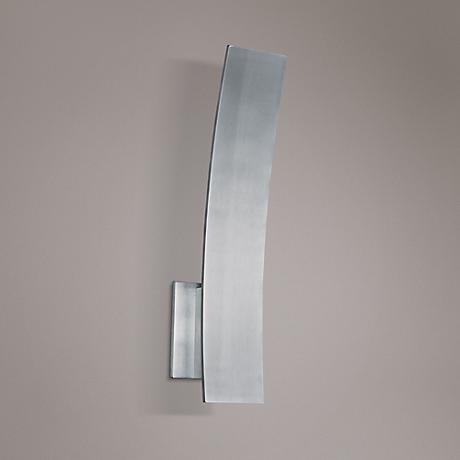 "ET2 Alumilux 16"" High Satin Aluminum LED Curved Sconce"