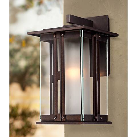 "Fallbrook Collection 13"" High Bronze Outdoor Wall Light"