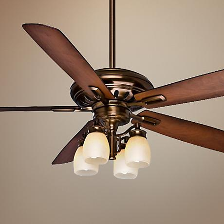 "60"" Casablanca Holliston Gallery Bronze Ceiling Fan"