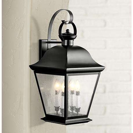 "Kichler Mt. Vernon 28"" High Black Outdoor Wall Light"