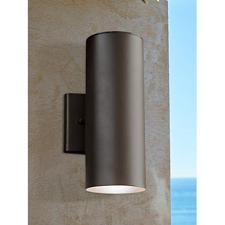 "Kichler Elba 12 1/4""H LED Bronze Outdoor Up/Down Wall Light"