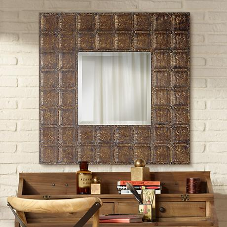 "Uttermost Gavino 34"" Square Wall Mirror"