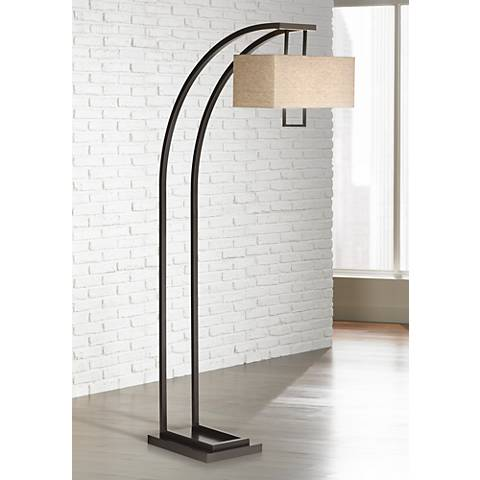 Aiden Place Oil-Rubbed Bronze Arc Floor Lamp