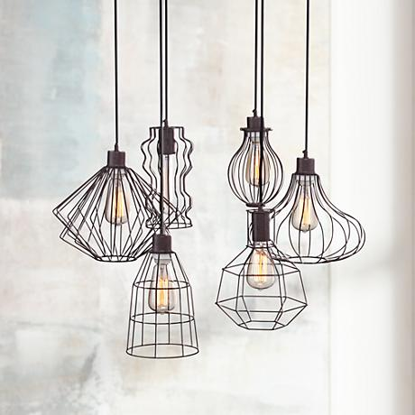 Portersville Rusty Urban Multi Light Pendant