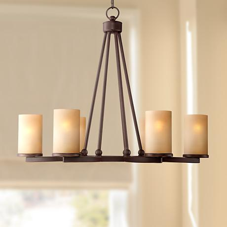 fairport 6 light 28 wide bronze chandelier cal lighting wood chandelier