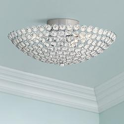 "Possini Euro Design Geneva 12"" Wide Crystal Ceiling Light"