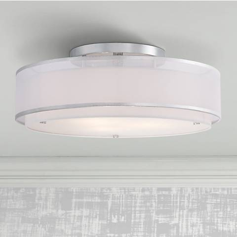 "Possini Euro Design Double Organza 20"" Wide Ceiling Light"