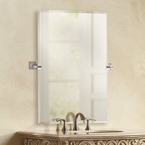 "Gatco Elevate Chrome 27 1/2"" x 31 1/2"" Frameless Wall Mirror"