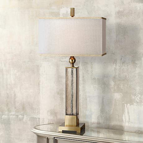 Uttermost Caecelia Amber Glass Table Lamp 4t044 Www