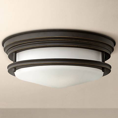 "Hinkley Hadley 12"" Wide Oil-Rubbed bronze Ceiling Light"