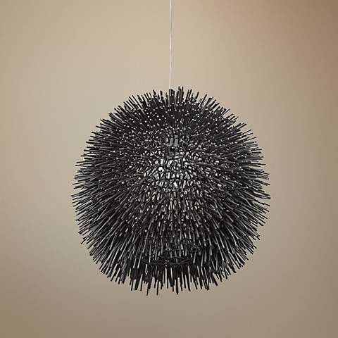 "Varaluz Urchin 13"" Wide Black Pendant Light"