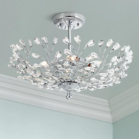 "Brielle 18 1/2"" Wide Chrome Ceiling Light"