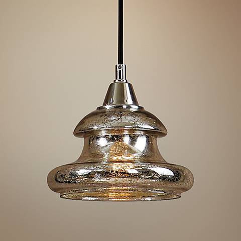 "Uttermost Arborea 8"" Wide Mercury Glass Mini Pendant"